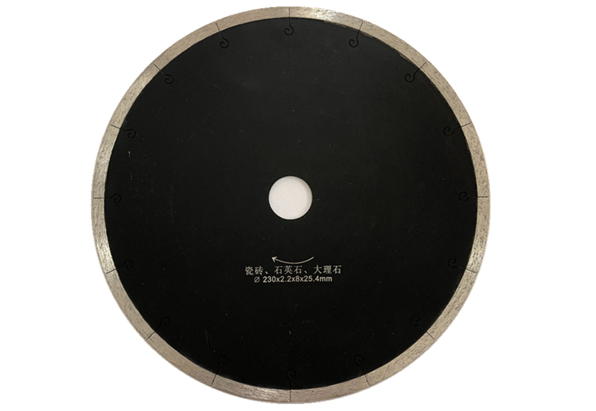 J slot saw blade for edge cutting