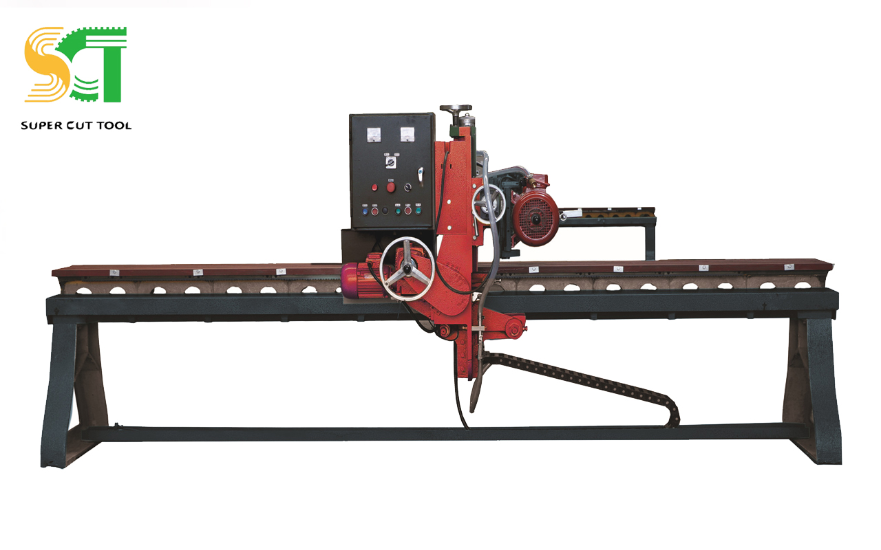 Edge polishing machine for stone