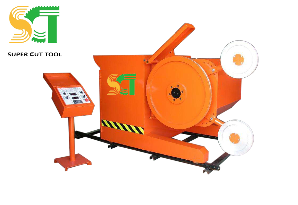 Diamond wire saw machine for quarry