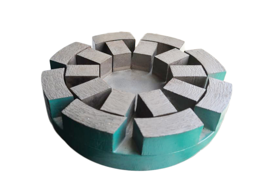 Calibration diamond satellite abrasive for granite