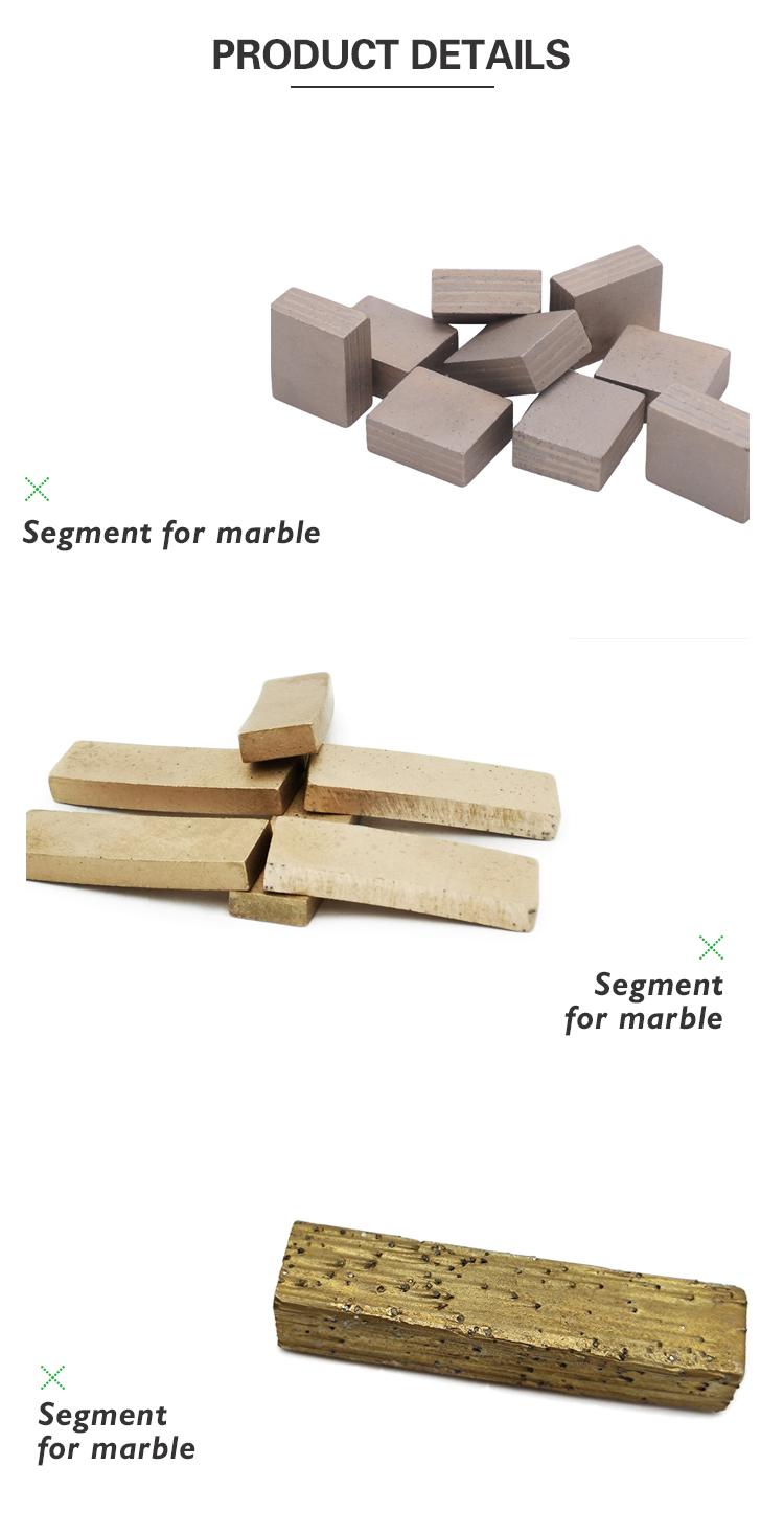 block cutting segment for marble, slab cutting segments