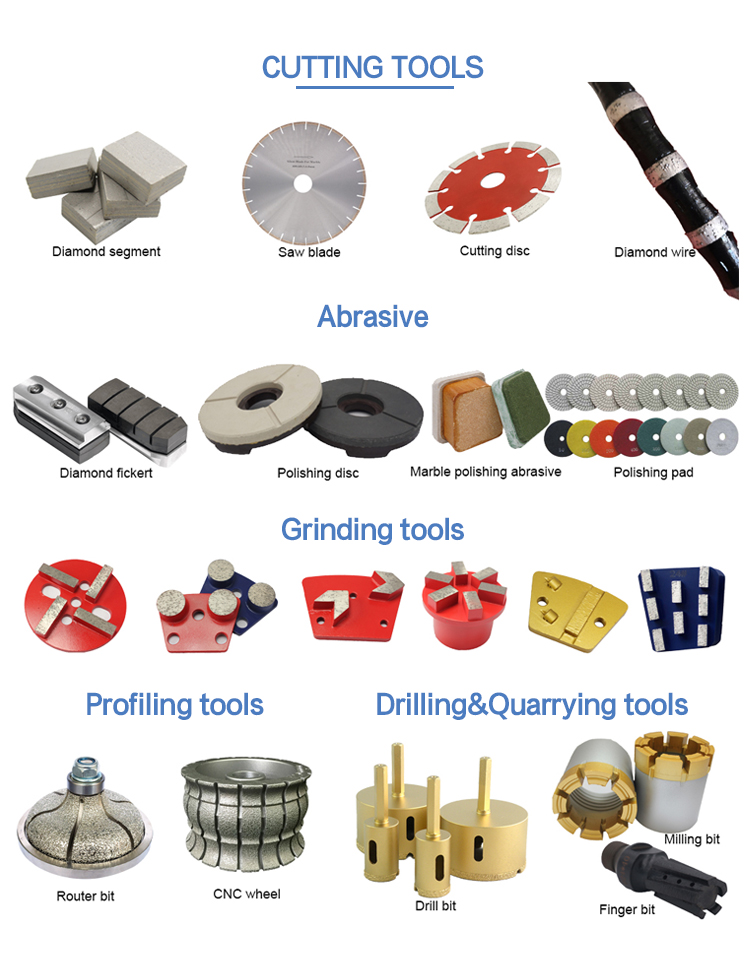SCT diamond tools for stone processing