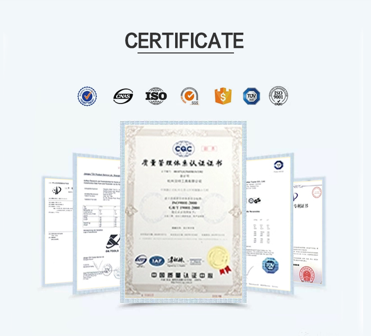 Super Cut tool certificate