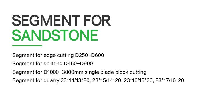 stone cutting segments for sandstone